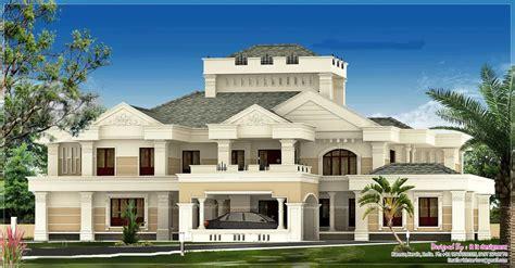 luxurious house plans luxurious kerala bungalow design at 5676 sq ft