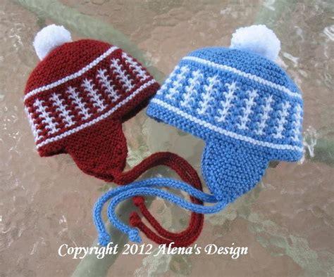 knit hat ear flaps pattern knit pom pom ear flap hat by alenabyers craftsy