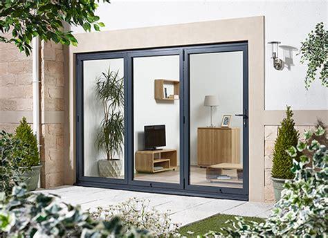 patio doors folding bifold doors aluminium grey folding patio doors
