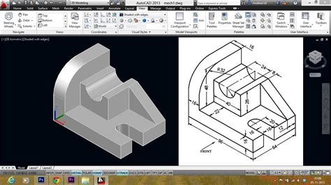 3d drafting autocad mechanical modeling part1 a 3d model