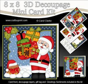 3d decoupage picture kits santa a4 child s letter from santa cup375487