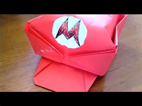 origami mario origami how to make mario s cap