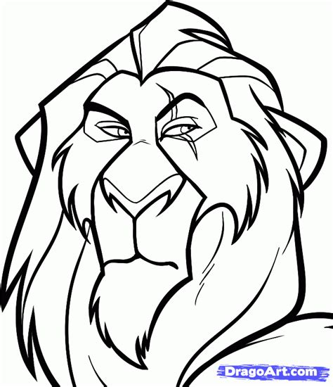 easy drawings how to draw scar easy step by step disney characters