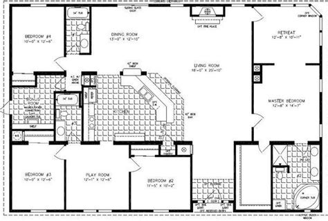 5 bedroom mobile homes floor plans 4 bedroom modular homes floor plans bedroom mobile home