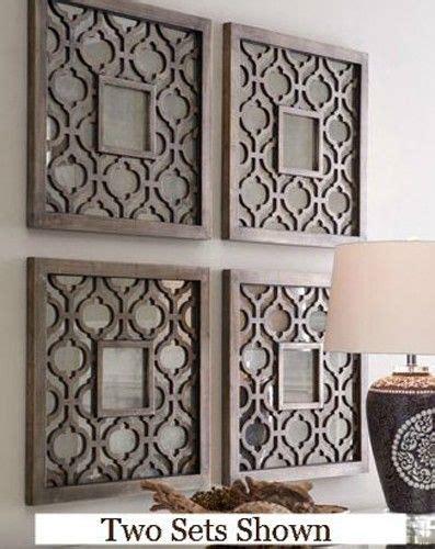 deco wall decor fretwork decorating panels square silver fretwork