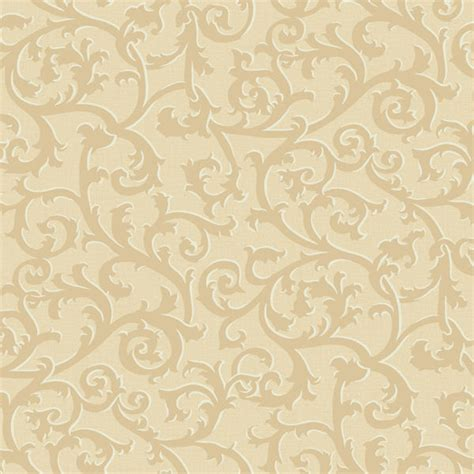 Kitchen Designs Unlimited gold and gold scroll with texture wallpaper