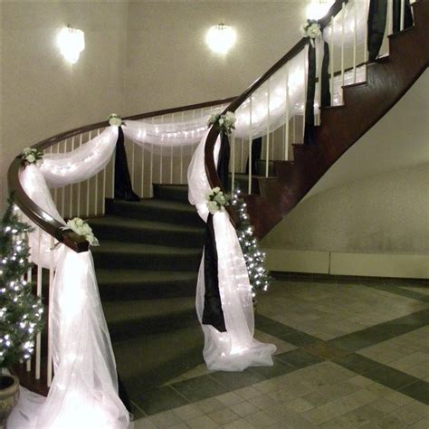 stairs decorations best 25 wedding staircase decoration ideas on