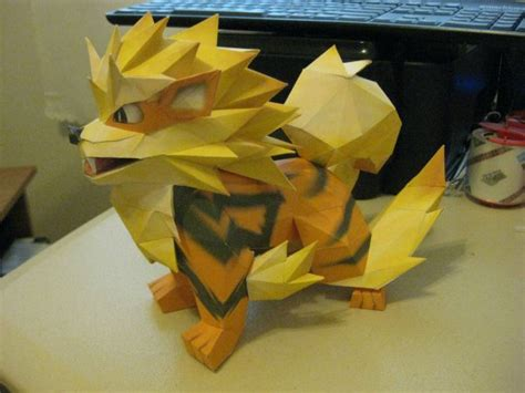 craft with paper mache papercraft arcanine dorkly post