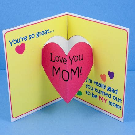 mothers day cards make make s day pop up card s day crafts