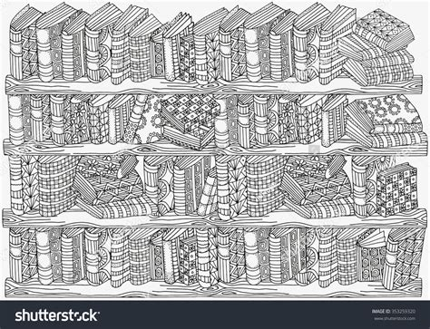 pattern picture books pattern coloring book a4 size artistically stock vector