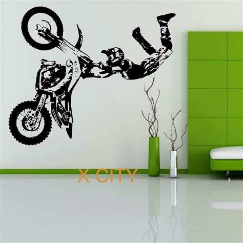 aliexpress buy stunt bike motorbike x mx wall sticker motocross dirt bike grapic