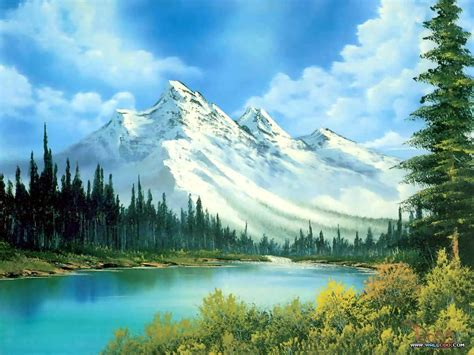 bob ross painting images waterfall painting wallpaper wallpaper wide hd
