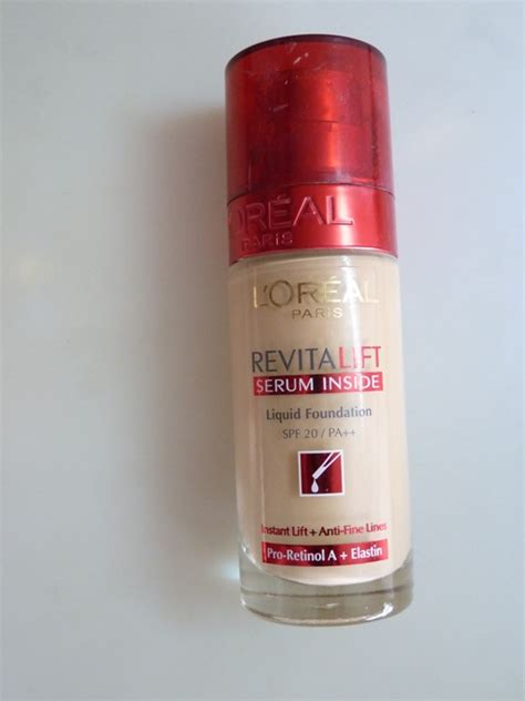 L Oreal Revitalift Serum Inside Liquid Foundation Review