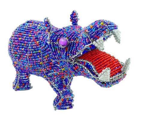 bead and wire animals wow imports beaded wire animal figurine hippo