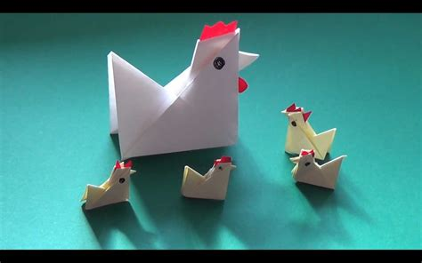 origami chicken how to fold yourself a paper chicken in less than five