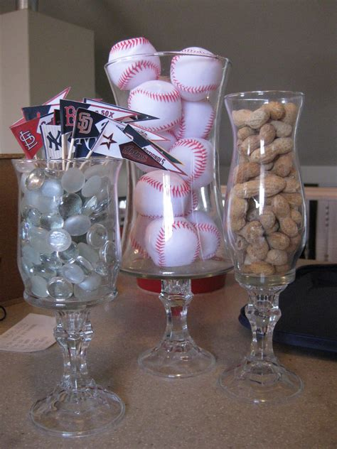 baseball centerpieces for tables you made that baseball centerpiece