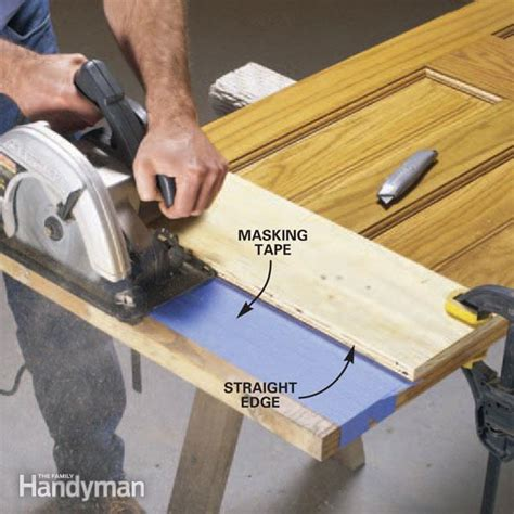 woodworking cuts how to cut wood door bottoms the family handyman