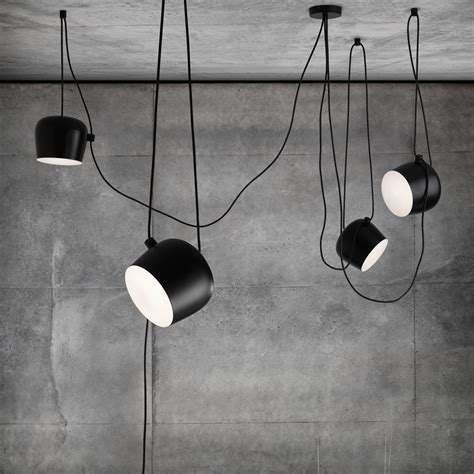 flos pendant lights flos aim small pendant light black houseology