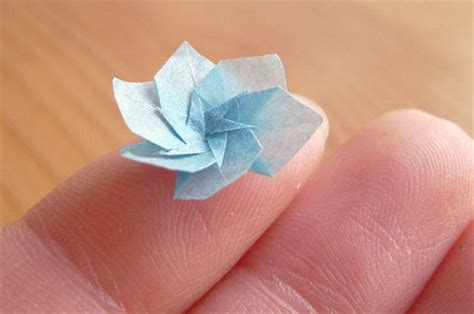 small origami flower miniature origami