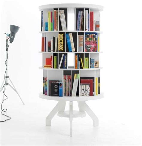 rotating bookshelves space saving furniture rotating book shelf