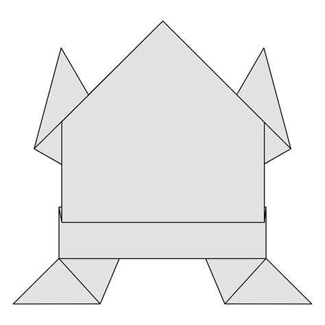 traditional origami frog how to fold an easy origami jumping frog traditional