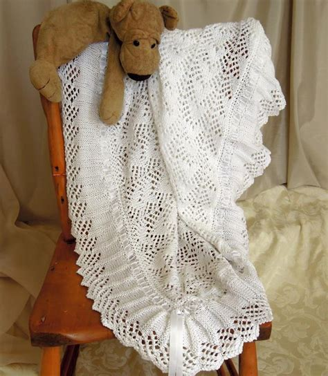 knitting patterns for baby blankets and shawls baby blanket sure to become an heirloom by oge designs