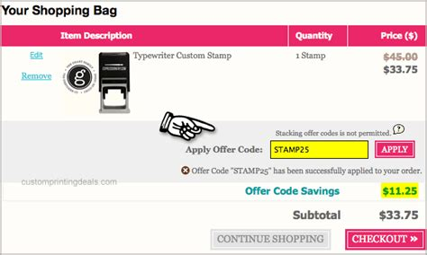discount rubber sts coupon code expressionery coupon 25 all custom printing rubber