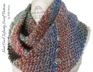 homespun yarn scarf pattern knit ravelry homespun knit cowl infinity scarf pattern by