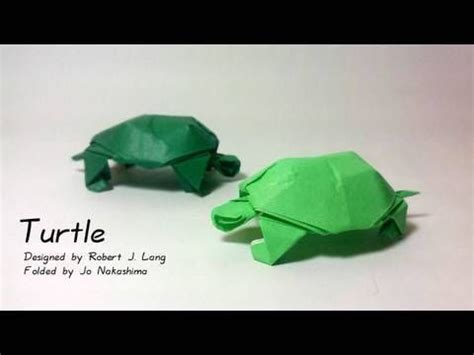easy turtle origami how to make an origami turtle designed by robert j lang