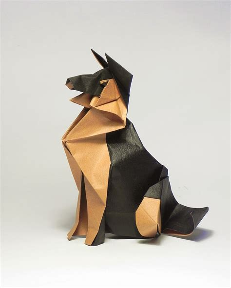 origami shepherd german shepherd by origami december 2016 origami