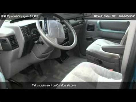 how cars engines work 1992 plymouth voyager windshield wipe control 1992 plymouth voyager base for sale in oakland ne 68045 youtube