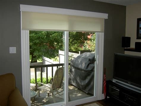 roller shades for patio doors roller shade on a patio door there when you need it and