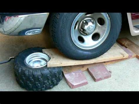 breaking the bead on a tire how to an atv tire bead mov