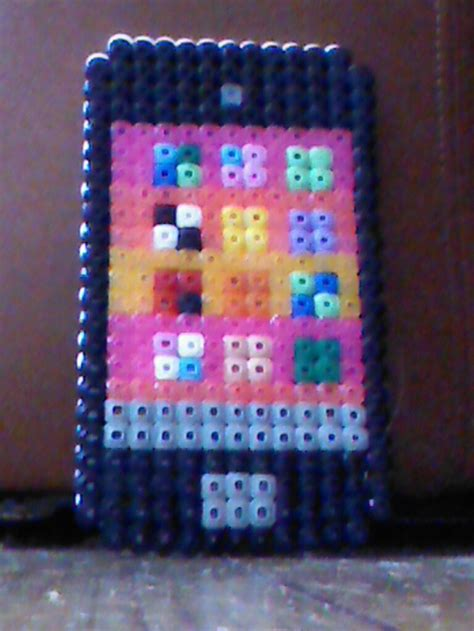 cool melty bead designs hama bead iphone 5 by navy blue perler