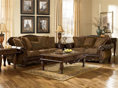 furniture living room set furniture fresco 63100 durablend antique living