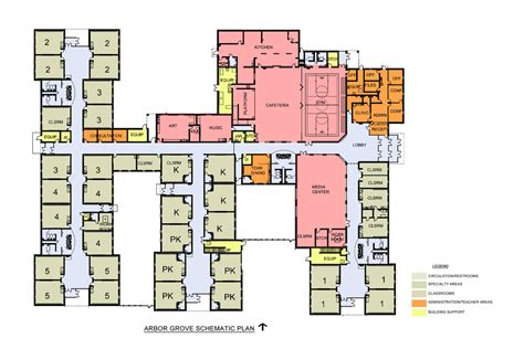 Northwest Floor Plans arbor grove elementary construction