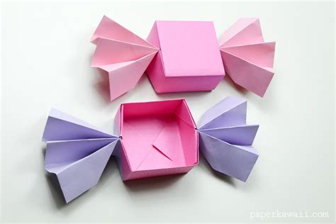 origami for origami box lid paper kawaii