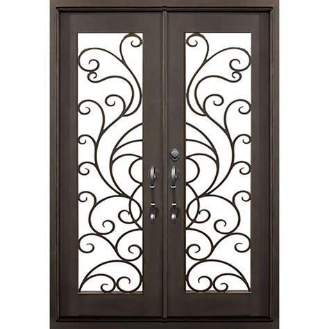 home depot wrought iron paint florida iron doors 72 in x 82 in islamorada flat top