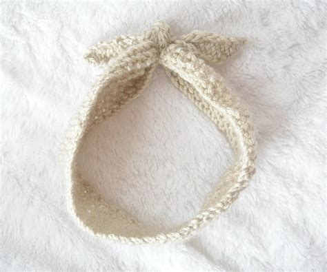 how to end a knitted headband vintage knit tie headband pattern in a stitch