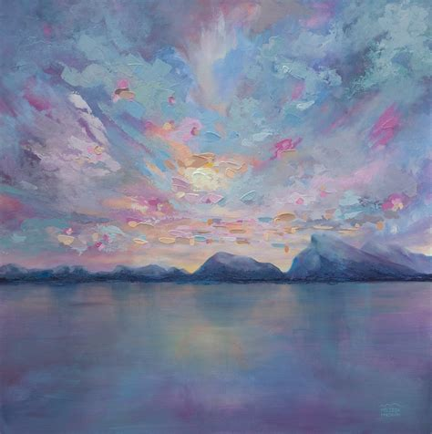 Rundle Sky 36 215 36 Original Acrylic Landscape Painting On