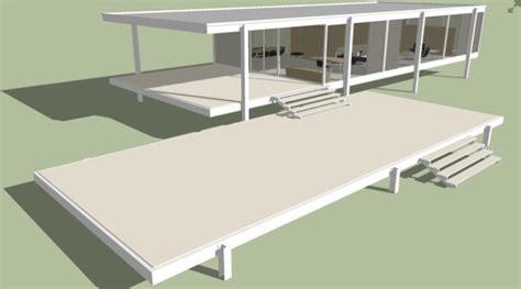 House Design Software 3d Download farnsworth house download sketchup 3d model