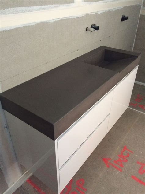 Concrete Vanity Top by 1000 Images About Polished Concrete Bathroom Vanities On