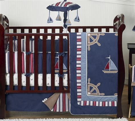 nautical baby crib set nautical nights boys sailboat baby bedding 9 pc crib set