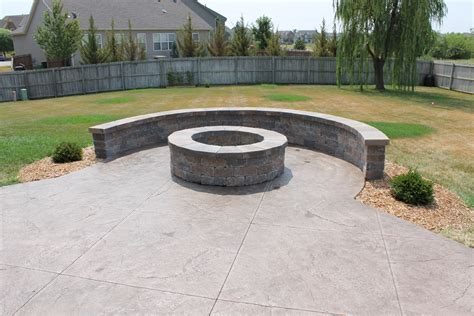 concrete pits make your backyard cozy with concrete pit fireplace