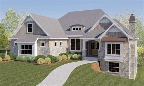 house plans with basement garage craftsman house plan with rv garage and walkout basement 290032iy architectural designs