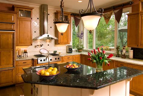 Cherry Kitchen Cabinets With Granite Countertops dazzling designs llc michigan design center