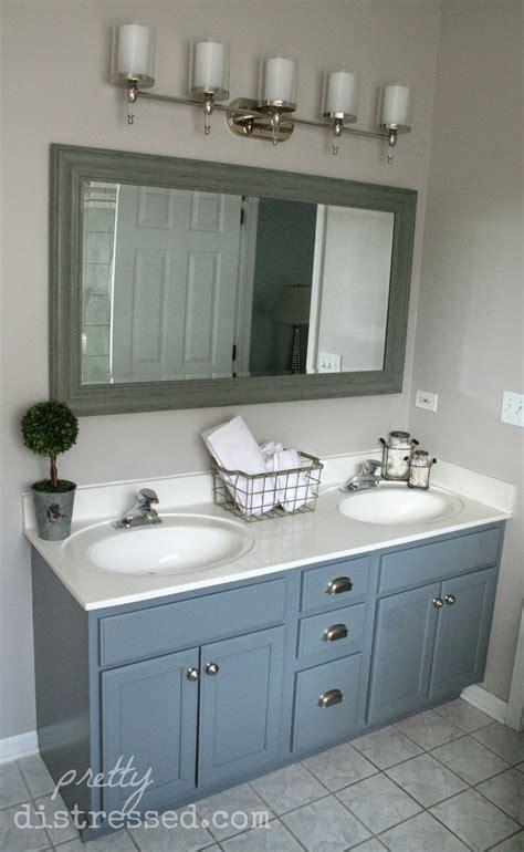 bathroom vanity paint pretty distressed bathroom vanity makeover with paint