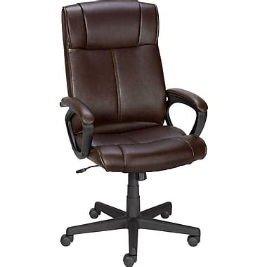staples office furniture chairs staples 174 turcotte luxura 174 high back office chair brown