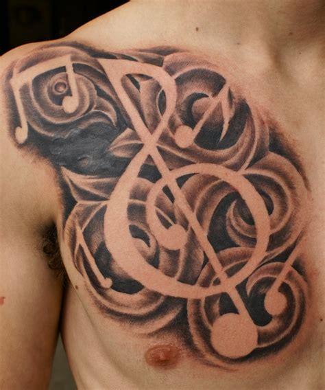 brainsy heart music tattoo design
