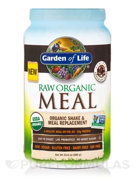 Garden Of Chocolate Meal Organic Meal Powder Chocolate Cacao Flavor 34 8 Oz